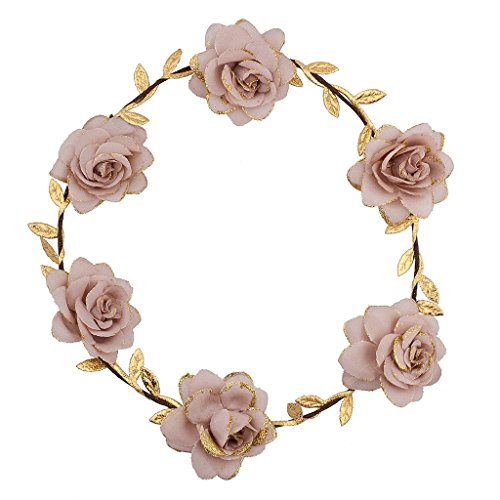 [Lux Accessories Pink Goddess Flower Headrown] (Flower Child Costumes Ideas)