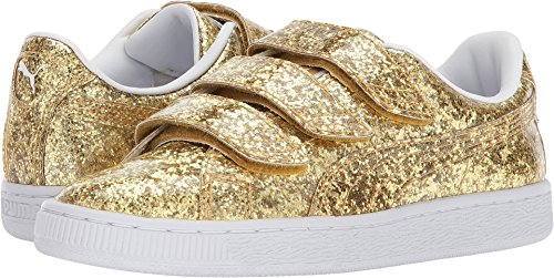PUMA Women's Basket Strap Glitter Gold/Gold 8.5 B US by PUMA