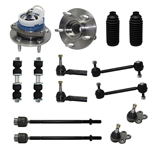 Detroit Axle - New Complete 14-Piece Front Suspension Kit - 10-Year Warranty- Front: 2 Wheel Bearings, 2 Lower Ball Joints, 4 Tie Rod Ends, 4 Sway Bar Links, 2 Tie ()