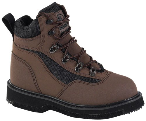 Hodgman Wading Shoes (Men's Hodgman Lakestream Lite Wading Shoes with Felt Soles, BROWN, 7)