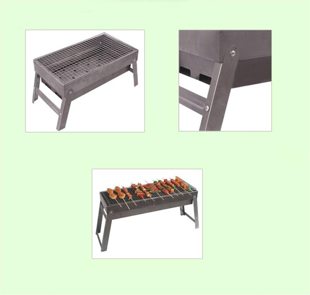 HomJo Barbacoa grill Barbacoa Parrilla de carbón al aire libre de la barbacoa de la barbacoa de las parrillas del Portable de la barbacoa a 3-5 personas ...