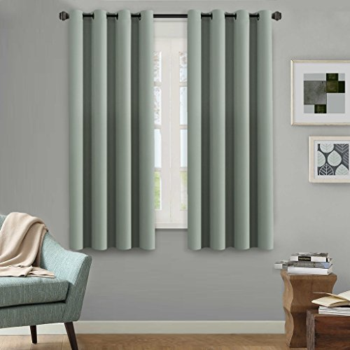 H.Versailtex Premium Blackout Curtain For Bedroom/Living Room,Energy  Efficient Thermal Insulated Grommet Window Panel,Sage,52x63 Inch,Set Of 1