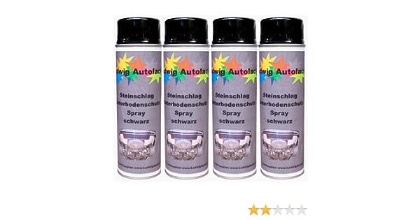 4 x 500 ml spray protector anti-gravilla protector para bajos negro.: Amazon.es: Coche y moto