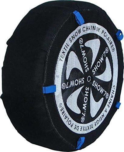 Chaussette neige textile pneu 27//8.5R15 excellente protection de la jante Valise comprenant 2 chaines textile et 1 paire de gants