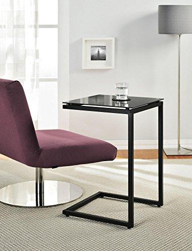 Altra Crane Glass Table Black