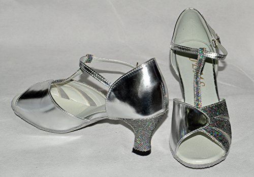 shoes ballroom dance hologram silver and 4 haley size ladies FzTXTtnqWB