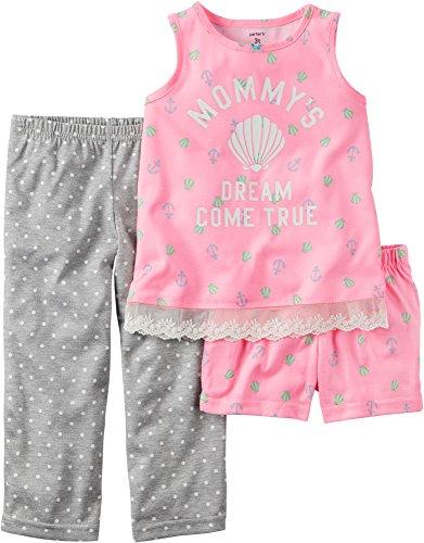 Carters Girls Mommys 3 Piece Pajama