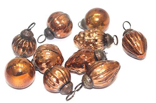 Copper Ornaments (antique mercury glass ornaments (mixshape copper))