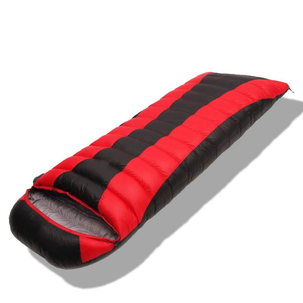 LIPENGXIANG Unsere Seasons Down Sleeping Bag Outdoor Dicke Warm Envelope mit Cap Camping Sleeping Bag Adult Sleeping Bag