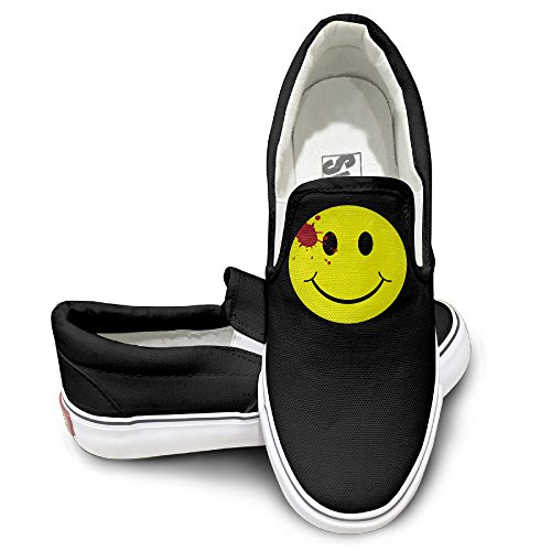 TAYC Watchmen Bloody Smiley Face Fashion Shoes Black