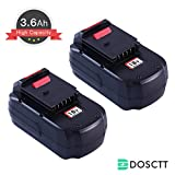 [Upgraded to 3600mAh]Dosctt PC18B 3.6Ah Replace for Porter Cable...
