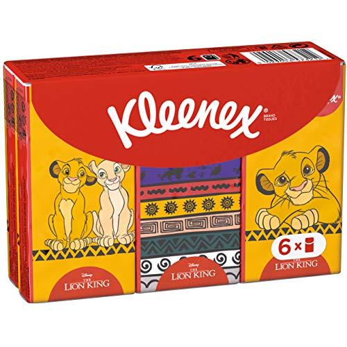 Kleenex Kids Disney zakdoeken voor kinderen, koning van de leeuwendesign, 6 x 9 doeken, 1 x 144 g