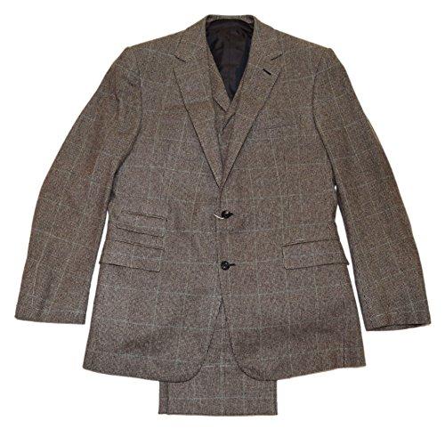 Ralph Lauren Plaid Vest - Ralph Lauren Purple Label Mens Cashmere 3-Piece Suit Vest Brown Plaid 42L