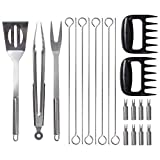 Mossberg 21-Piece Stainless Steel BBQ Set, All the Barbeque Tools You Need to Become a Backyard Grillmaster