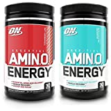 Optimum Nutrition Essential Amino Energy 2 Flavor Value Pack | Blueberry Mojito + Strawberry Lime (30 Serv Each) for Mental Focus, Energy + Post-Workout Recovery