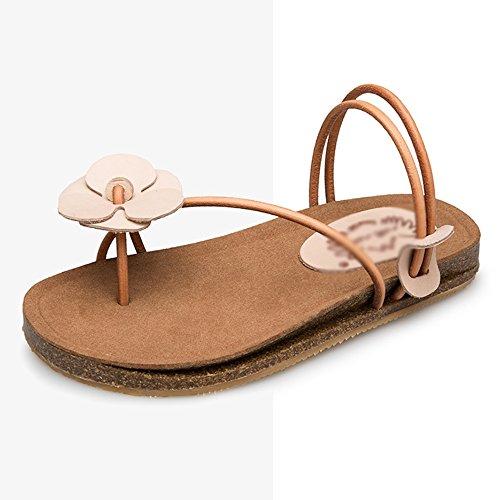 Zapatos Flor Punta Verano Retro Z Clip Femenino Piso Sandalias Mujer Estudiante Ajzgf Con De 0RdHqXX