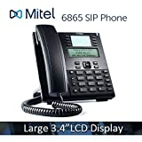 "Mitel 6865 6865i VoIP Phone 3.4"" 128x48 pixel LCD Display HD Audio SIP Office IP PoE Phone 80C00001AAA-A"