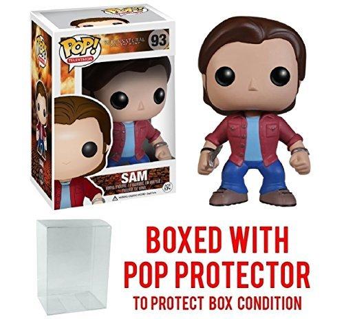 Funko Pop! Supernatural - Sam Winchester Vinyl Figure (Bundled with Pop BOX PROTECTOR CASE) -