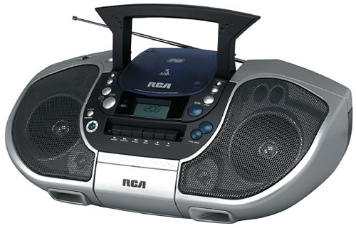 RCA RCD103 Boombox (CD and Cassette Player