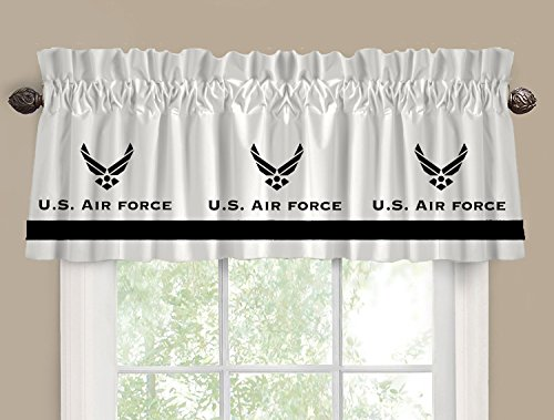 Logo Sweatshirt Military (US Air Force Military Window Valance / Window Treatment - In Your Choice of Colors - Custom Made)