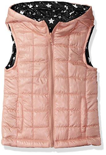 Urban Republic Little Girls' Light Weight Puff Reversible Vest, Pink Sherbet, 4 -