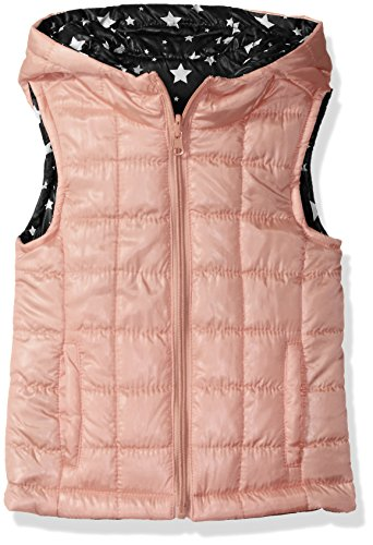 Urban Republic Girls' Big Light Weight Puff Reversible Vest, Pink Sherbet, 16 -