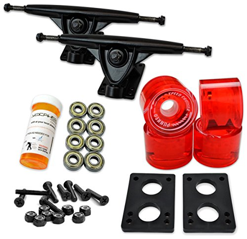LONGBOARD Skateboard TRUCKS COMBO set w/ 71mm WHEELS + 9.675