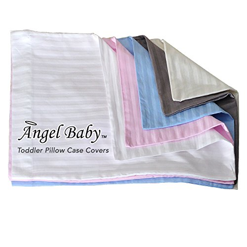 Angel Baby Toddler Pillowcase | Natural Cotton Pillow Case for Kids Bedding | Sateen Weave, 400-Thread Count Cover | Hypoallergenic, Breathable Comfort | Made in USA - (14