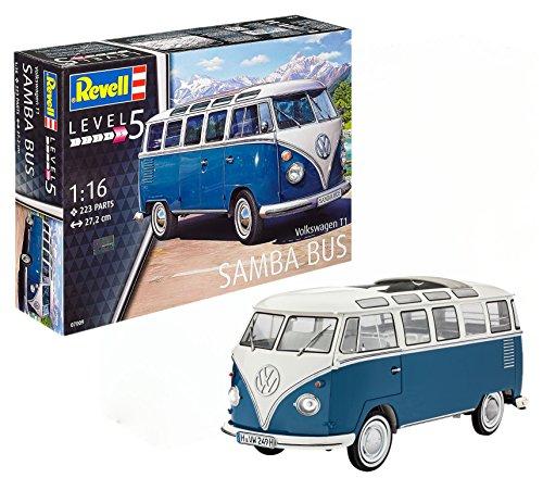 (Revell 07009 Volkswagen T1 Samba Bus Model Kit, 1:16 Scale 27.2 cm, Multi-Color)