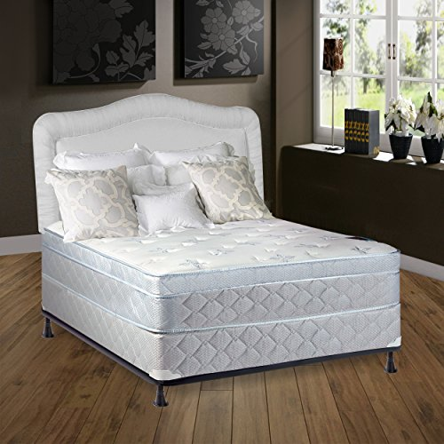 Continental Sleep Mattress, 10'' Plush  Pillowtop Eurotop , Fully Assembled Othopedic Twin Mattress and Box Spring,Luxury Collection by Continental Sleep