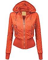 WJC1004 Womens Casual Inner Fleece Bomber...