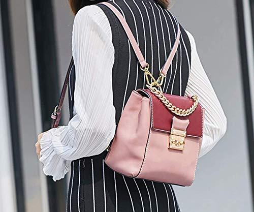 Hombro Pu Bolsa Rosado color De Off Laptop Cuero Para Mujer Escolar Mochila Bolsos white Eeayyygch Ww6fFqcHc