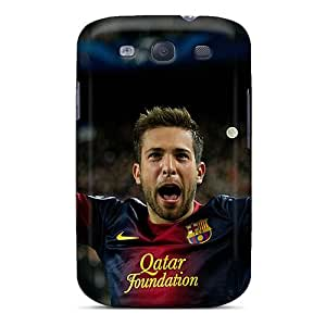 Awesome Barcelona Jordi Alba Won The Game Flip Case With Fashion Design For Galaxy S3