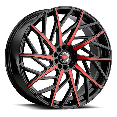 Racing Revolution - Revolution Racing RR21 Custom Wheel - Black with Red Face Rims - 20