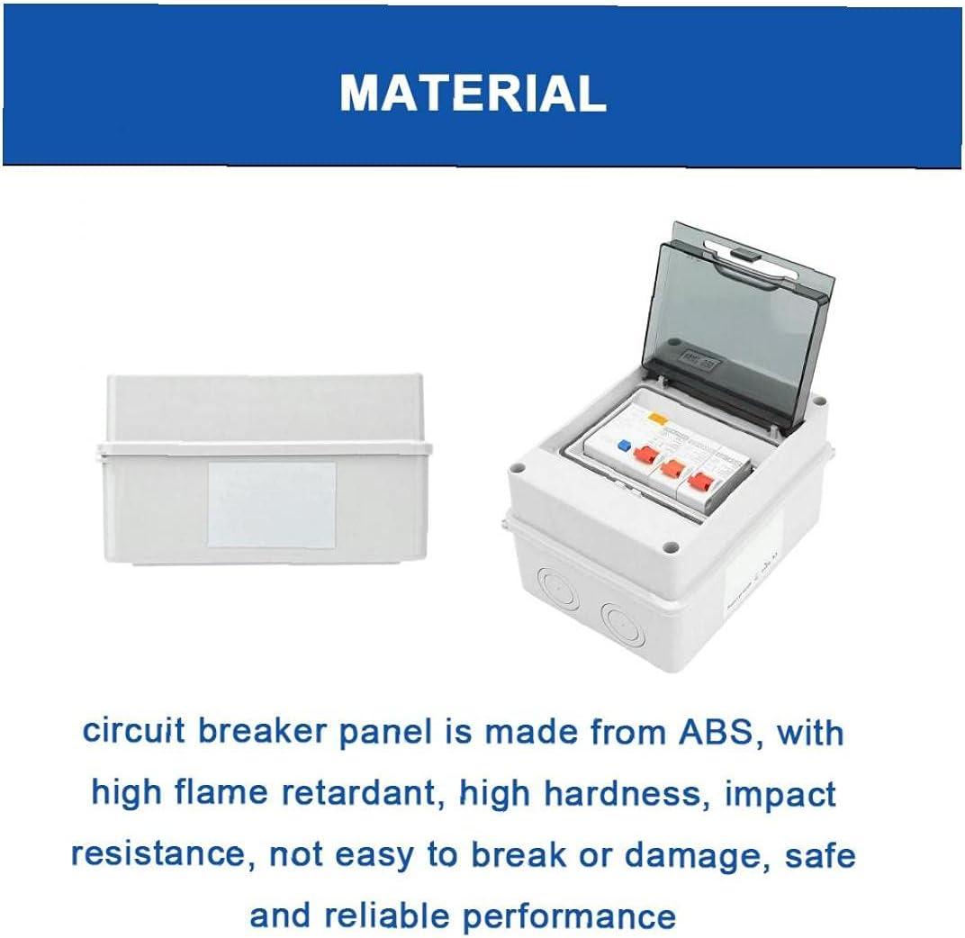 Mini Leakage Circuit Breaker 2 Way Consumer Unit Circuit Breaker Panel IP65 Protective Plastic Shield Circuit Breaker Consumer Unit Circuit Breaker Box Fuse Board 40A 30mA RCD 2MCB 6A+16A