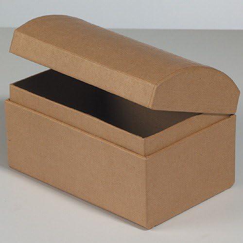 Schatztruhe Pappe / Karton zum Basteln und Selbstgestalten, 12x8x7,5cm: Amazon.es: Jardín