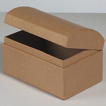 Cofre de cartulina / cartón para manualidades y personalizar, 12 x 8 x 7,5 cm: Amazon.es: Jardín