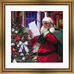 Grandfather Clock by The Macneil Studio Framed Art Print Wall Picture, Wide Gold Frame, 28 x 28 inches