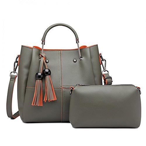 Tassel Tote Shoulder Bags Green Bag Women Ladies Grab Handbag CpBqn