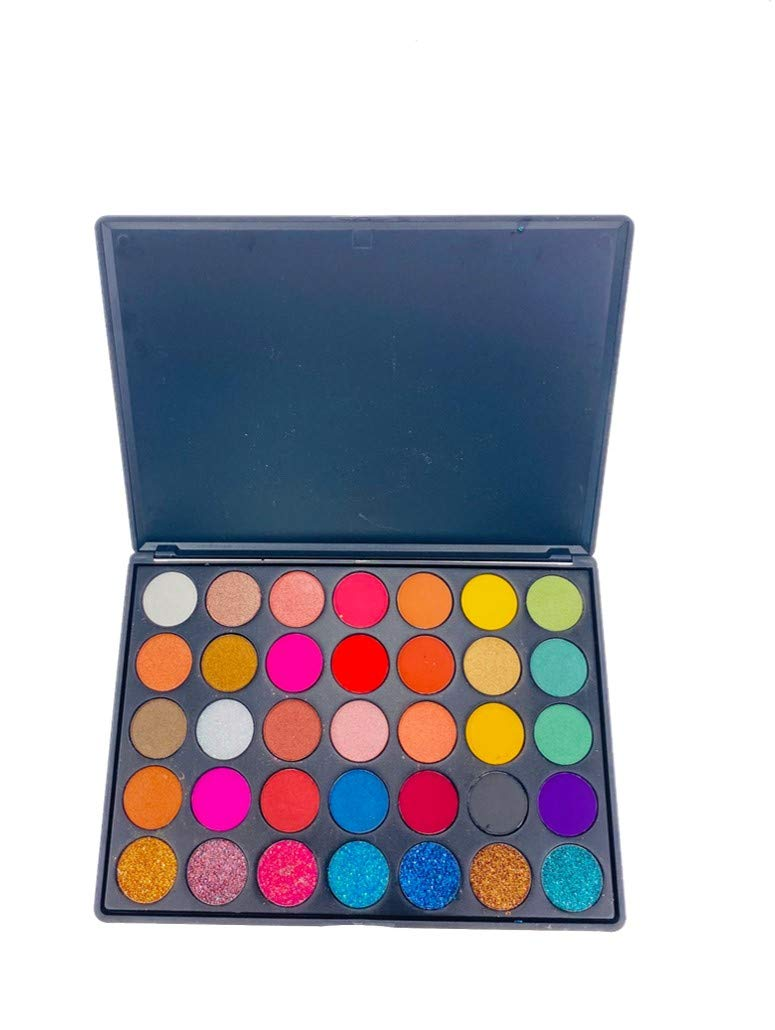 Wazzala Lifestyle-Makeup Eyeshadow Palette with 35 Versatile Shades for Professional or Personal Use – Perfect for Daytime and Night-time Glam- Vegan and Cruelty Free- Rich Long Lasting Color