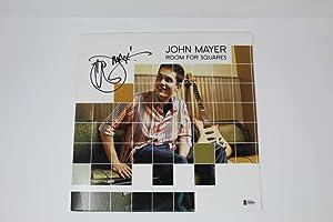 JOHN MAYER SIGNED AUTOGRAPH ALBUM VINYL RECORD - ROOM FOR SQUARES, DEAD & CO PSA