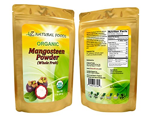 Organic Mangosteen Fruit Powder - 1 lb - Queen of Fruits Superfood Supplement - Natural Source of Antioxidants, Vitamins, & Minerals - Grown In Thailand - Vegan, Non GMO, Gluten Free