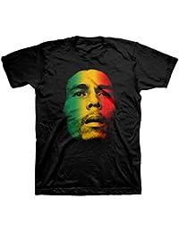 Face Rasta Tri-Color Adult Men's Black T-Shirt