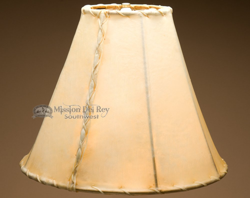 Rawhide Lamp Shades for Western Lamps (14'' bell)