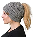 Funky Junque BT-6020a-73051 Solid Ribbed BeanieTail - Sequin Heather Grey