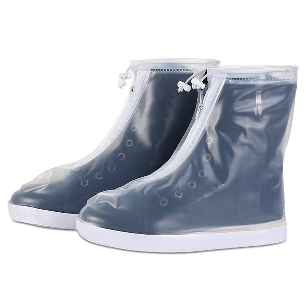 Rain Boots Thicken Wear Resistant Bottom Snow Protection Zippered Adjustment Zhuhaitf Womens Men Reusable Waterproof Rain Shoe Covers Overshoes
