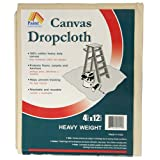 Paint Essentials 4-Feet x 12-Feet Canvas Drop Cloth HW412