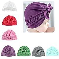 Udobuy7 Pcs Headband Updated Version Baby Hat- Newborn Baby Girl Soft Cute Tu...