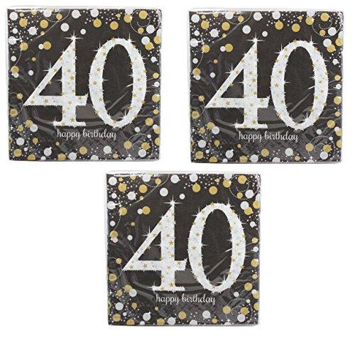 - Sparkling Celebration 40 Beverage Paper Napkins (3)