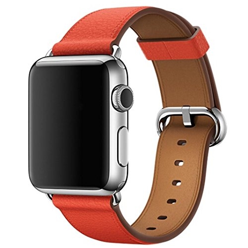 Price comparison product image For Apple Watch Series 3 42MM, Outsta Single Tour Leather Band Bracelet Watchband strap Red